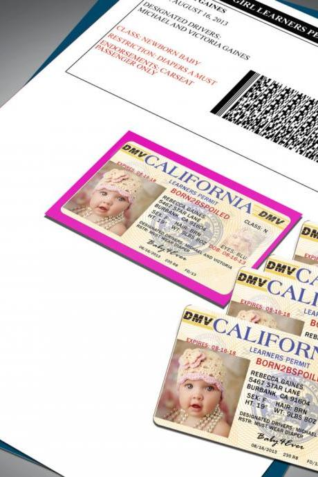 Baby Announcments - Drivers License/Learners Permit PVC Cards