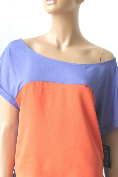 two colors women's top