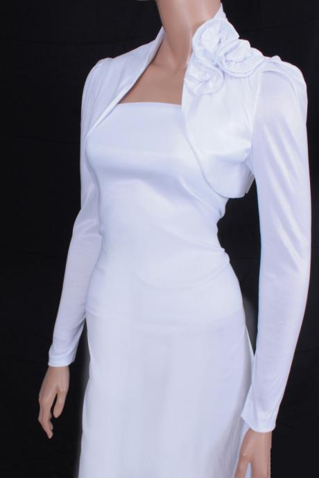 Bridal diamond white shrug jacket wedding bolero