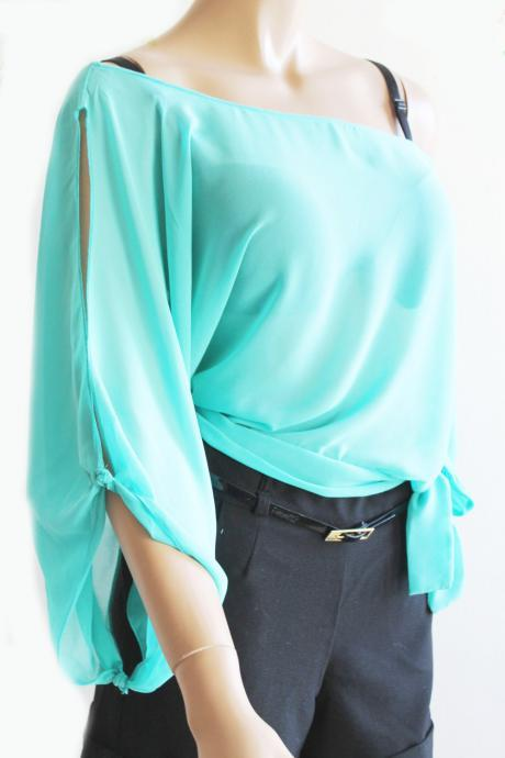 Plus Size Sexy Chiffon /beach top/party blouse