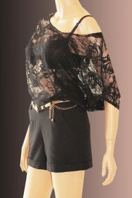 women's elegant lace top