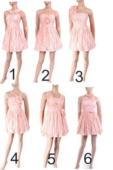 Mix bridesmaids dresses / evening / peach dress