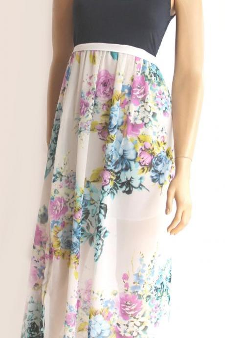 maxi/ day/summer/ chiffon dress