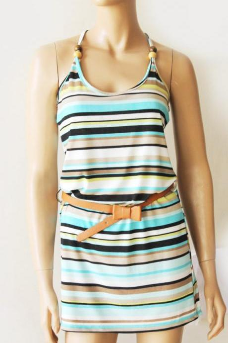 Striped casual /mini dress/ tunic