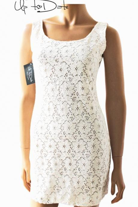 elegant cotton lace dress
