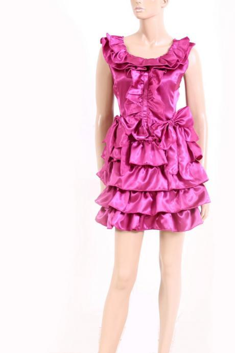 Party/ cocktail/Satin Ruffle Dress
