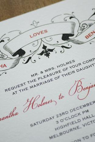 Vintage Ribbon - Wedding Invitation (PRINTABLE)