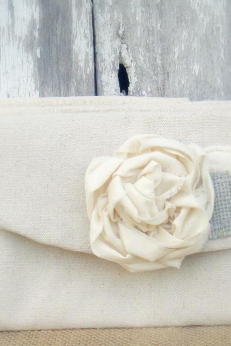 5 Burlap Bridesmaid Clutches Peony Flower Rustic Bridesmaid Clutch Wedding Clutch Purses Rustic Burlap Wedding Clutches Bridesmaid Gift Wedding Clutches
