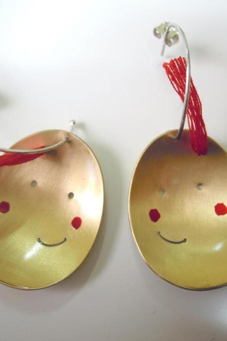 Happy Egg Earrings