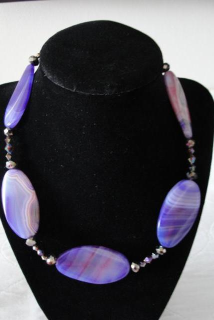 Gorgeous Purple and Pink Stone Necklace