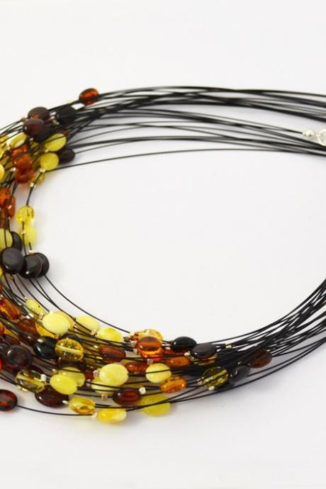 Wholesale Baltic amber necklace jewelry (0001)