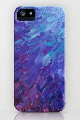 SCALES of a DIFFERENT COLOR Bold Purple Art iPhone 4 4s or iPhone 5 5s 5c Case, Lavender Lilac Periwinkle Eggplant Hard Plastic Phone Cover
