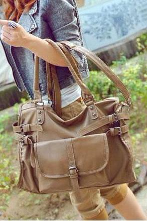 Fashion Brown Belt Handbag&Shoulder Bag
