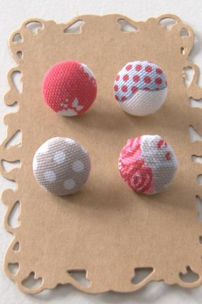 Fabric covered buttons...