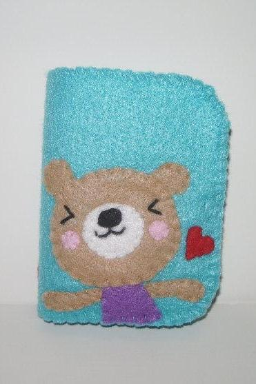 Felt Wallet Kawaii Bear Bifold
