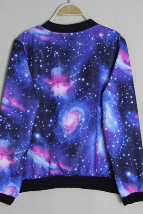 Unique Universe Star Blue Gradient Jacket &Sweater