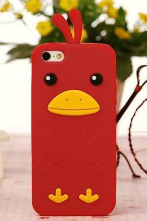 Red Chicken Soft Case for iPhone 5