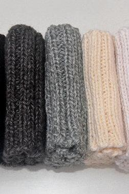 Boot Cuffs. Black, Dark Gray, Gray, Cream, White. Boot Toppers.