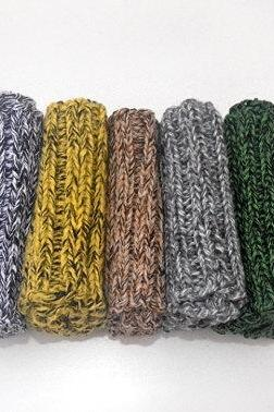 Knit Boot Cuffs Mix Line. White Black, Yellow Black, Beige Brown, Gray Dark Gray, Green Black Boot Toppers.