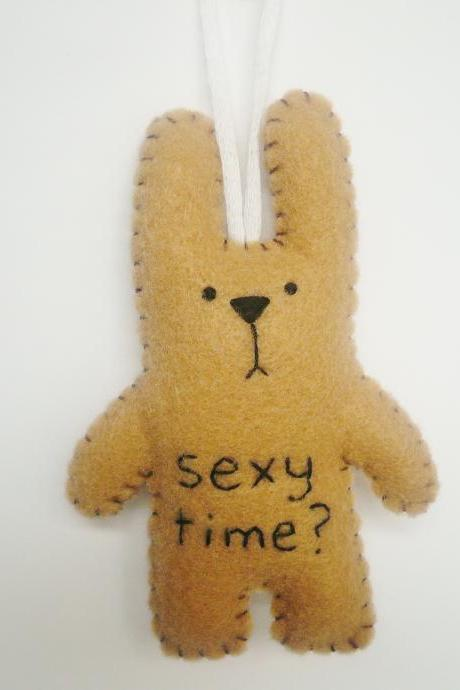Christmas tree ornament decoration or gift funny bunny rabbit - Sexy time