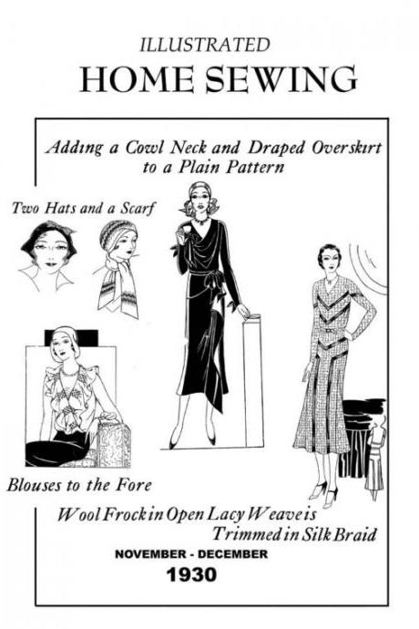 1930s Art Deco Easy Winter Sewing and Designing Vintage Dresses