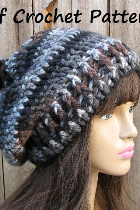 CROCHET PATTERN!!! Crochet Hat - Slouchy Hat, Crochet Pattern PDF,Easy, Great for Beginners, Pattern No. 61