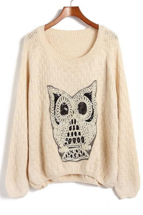 Owl Comfort Turtleneck Sweater
