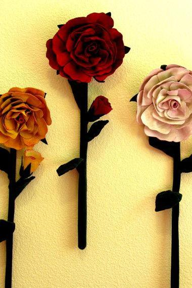 Rose Large Flowers Wall Hanging Pdf Pattern