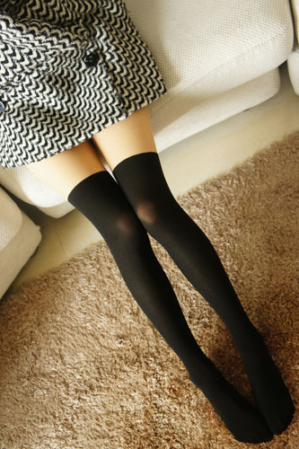 Basic Faux Thigh High Stockings