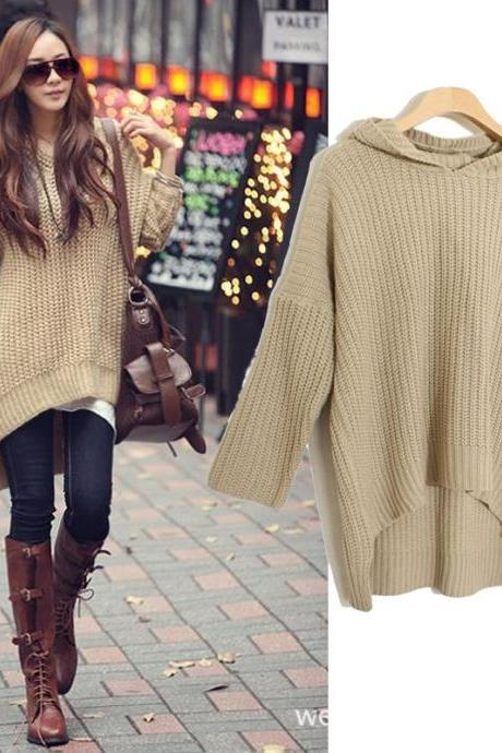 Fashion Lady Long Sleeve Cardigans - Khaki
