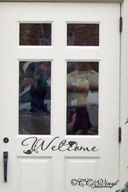 Welcome Front Door Vinyl Decal