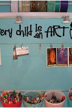 Every Child is an Artist Vinyl Wall Art