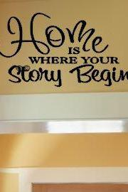 Home, Where your Story Begins Vinyl Wall Decal