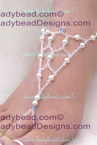 Beach Wedding Sandals Barefoot Jewelry LFJ163