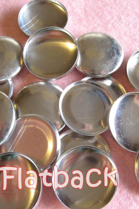 50 Covered Buttons FLAT BACKS- 1 1/8 inches - Size 45