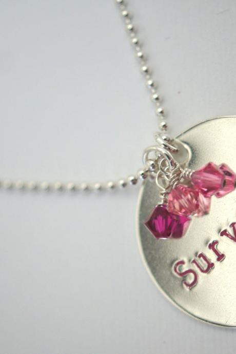 Survivor - Breast Cancer - Sterling Silver Necklace