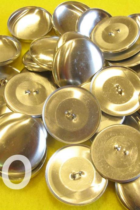 50 Covered Buttons - 1 1/2 inches - Size 60