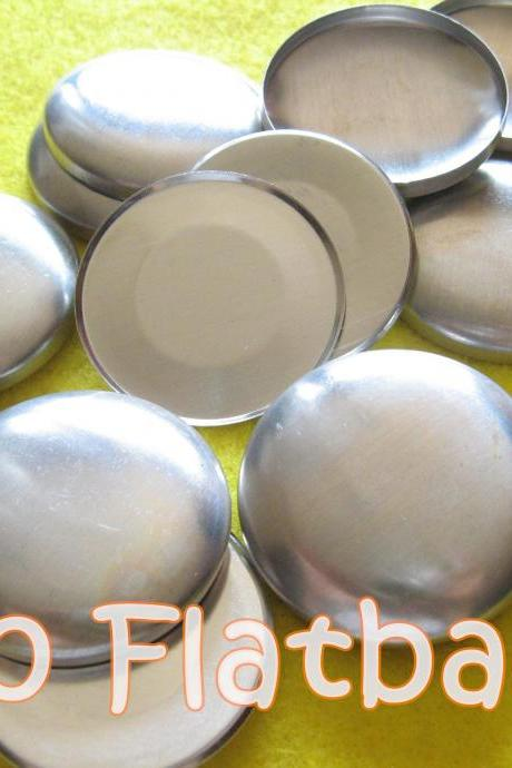50 Covered Buttons FLAT BACKS - 1 1/2 inches - Size 60