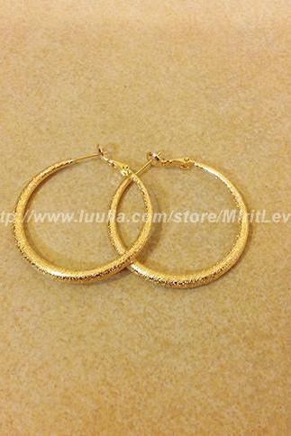 14K Gold filled hoop circle earring