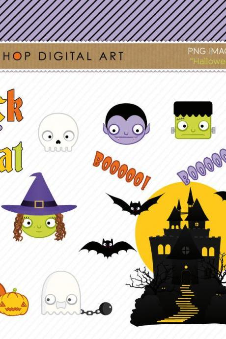 INSTANT DOWNLOAD - Clip Art - Halloween Buy 2 Get 1 Free - Please read my Shop Announcement