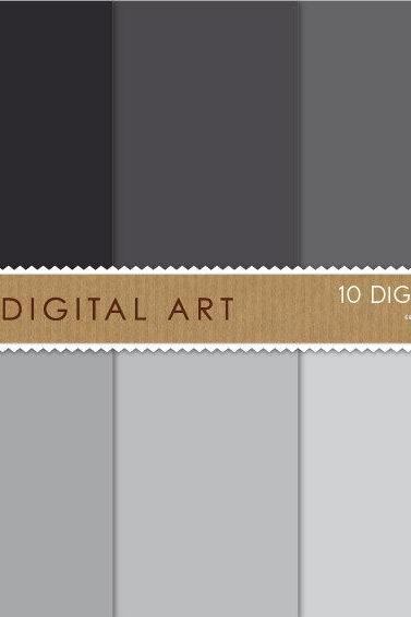 Digital Papers Gray Shades 12x12 inches - INSTANT DOWNLOAD - Buy Any 2 Packs Get 1 Free