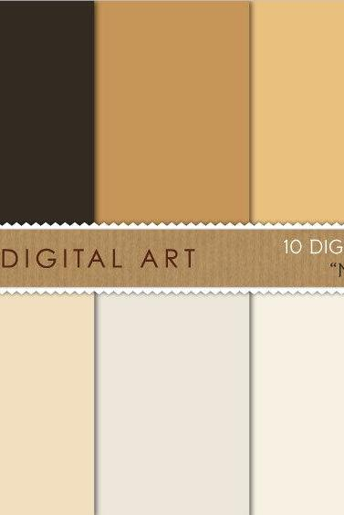 Digital Papers Natural Colors 12x12 inches - INSTANT DOWNLOAD - Buy Any 2 Packs Get 1 Free