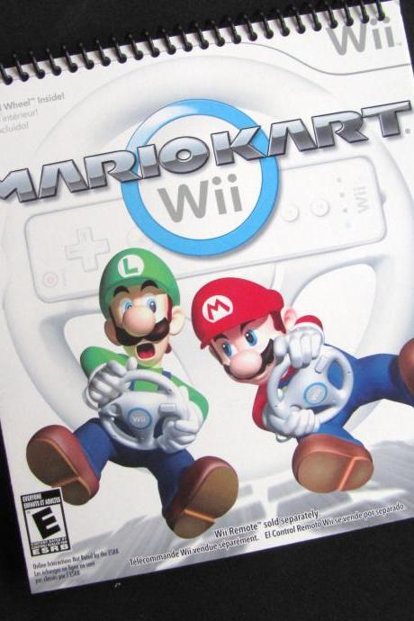 NINTENDO MarioKart notebook sketchbook journal spiral bound RECYCLED