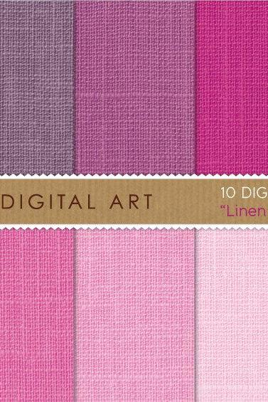Digital Papers - Linen - Magenta Shades