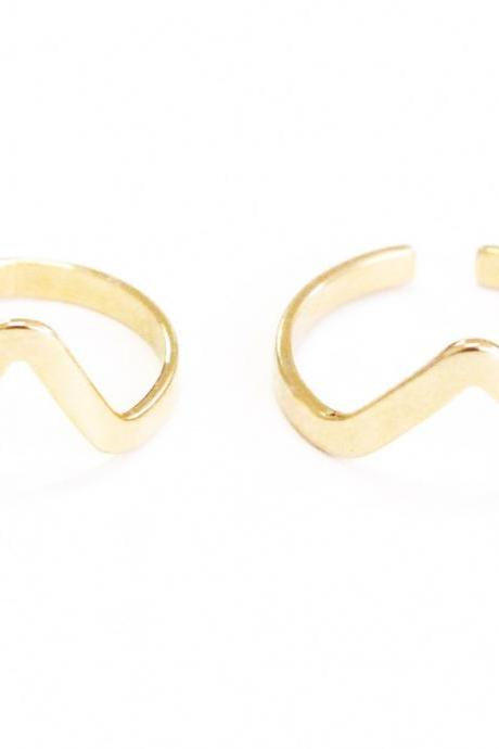 Chevron Duo Rings
