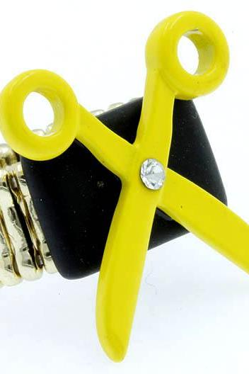 Stretch Ring Yellow Scissors