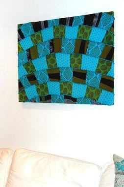 "Beautiful large patchwork canvas 30""x40"""