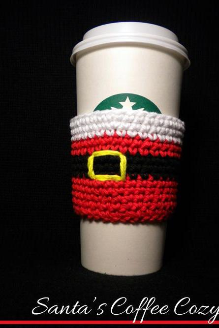 Santa's Coffee Cozy Pattern