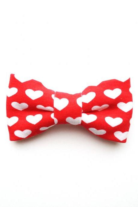 Kids Bow tie Pin Brooch Heart Dot Red :) kids fashion show Vogue Bambini