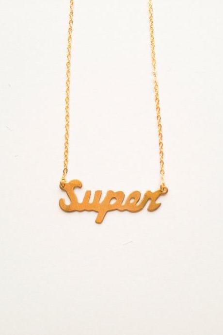 Vintage retro super gold plated necklace :) Cute lovely heart vintage chic